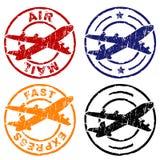 pieczęć poczty lotniczej Fotografia Royalty Free