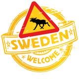 Pieczątki powitanie Szwecja Obraz Stock