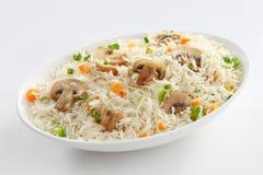 Pieczarka Smażący Rice Fotografia Royalty Free