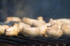 Pieczarki na grillu Fotografia Royalty Free