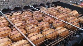 Pieczarki na grillu Zdjęcia Stock