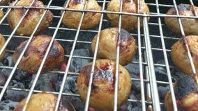 Pieczarki piec na grillu Obraz Stock