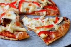 Pieczarki pizza Obraz Royalty Free