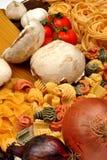 pieczarkowy organicznie makaron Zdjęcie Royalty Free