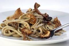 pieczarkowy pieprzowego kumberlandu spaghetti Obraz Royalty Free