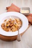 Pieczarkowy resotto carpaccio kuchni doskonale stylu życia, jedzenie luksus włoski Fotografia Stock