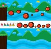 Pieczarkowy skok gry krajobrazu szablon Fotografia Royalty Free
