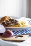Pieczarkowy Szwajcarski hamburger Obrazy Royalty Free