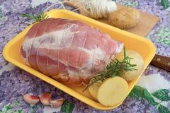Pieczeń faszerujący wieprzowiny mięso zdjęcie royalty free