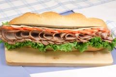 pieczeń kanapka dymiąca wołowiny Zdjęcie Stock
