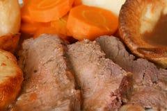 pieczeń pud Yorkshire wołowiny Zdjęcie Royalty Free