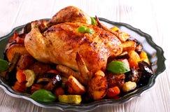 pieczeni kurczaków warzywa Obraz Stock