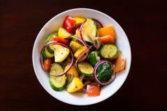 Pieczeni warzywa w pucharze Obraz Royalty Free