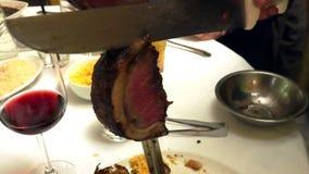 Pieczona wołowina na mierzei zdjęcie wideo