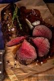 Pieczona wołowina od tenderloin obrazy stock