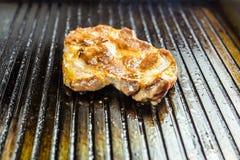pieczone mięso Soczysty stek od wołowiny - miękki focuse Obraz Royalty Free