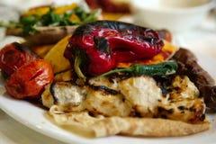 pieczone mięso warzywa Zdjęcia Stock