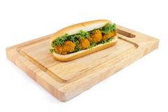 Pieczonego Kurczaka hot dog Fotografia Stock