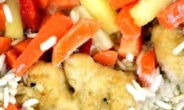 Pieczonego Kurczaka Owocowego warzywa TV gość restauracji Marznący Zdjęcie Royalty Free