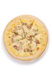 Pieczonej wieprzowiny pizza Obrazy Stock
