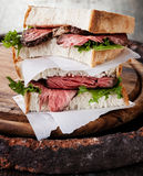 Pieczonej wołowiny kanapka Fotografia Stock