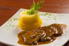 Pieczonej wołowiny posiłek Obrazy Royalty Free
