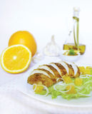 Pieczony indyk z pomarańcze Obraz Royalty Free
