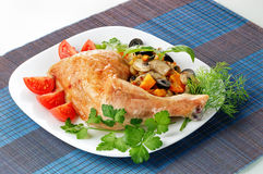 pieczony kurczak Obrazy Stock