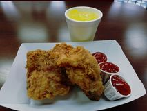 pieczony kurczak Zdjęcia Royalty Free