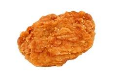 Pieczony kurczak bryłki odizolowywać na bielu obrazy royalty free
