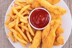 Pieczony kurczak, fast food Obrazy Royalty Free