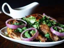 Pieczony kurczak i kumberland Fotografia Stock