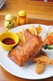 Pieczony kurczak i układ scalony Obrazy Stock