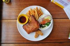 Pieczony kurczak i układ scalony Zdjęcie Stock