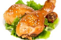 Pieczony kurczak nogi obraz stock
