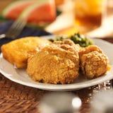 Pieczony kurczak z collard zieleniami Obraz Royalty Free