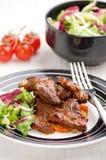 Pieczony mięso Fotografia Stock
