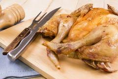 Pieczony spatchcock kurczak fotografia stock