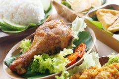 Pieczonych kurczaków ryż fotografia stock