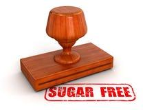 Pieczątka cukier bezpłatny (ścinek ścieżka zawierać) Fotografia Stock