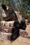 Pied antique de tête de sommeil de Bouddha Photos libres de droits