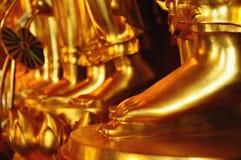 Pied de glod de Bouddha, Thaïlande Images libres de droits
