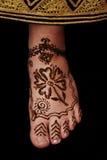 Pied de henné Photos libres de droits