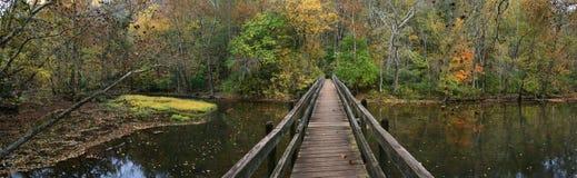 pied de passerelle en bois Image libre de droits