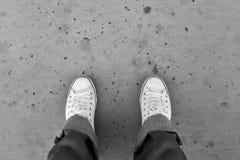 Pied et jambes vus d'en haut Photographie stock libre de droits