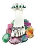 Pied incrusté de bijoux Images stock