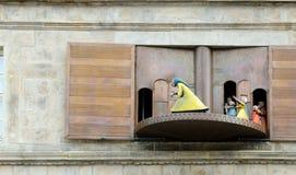 Pied Piper. Hameln. Pied Piper carillon in Hameln (Germany Stock Photo