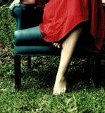 Pied sur l'herbe Photographie stock libre de droits