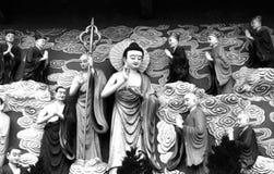 A piedade e o mana ilimitado da Buda foto de stock