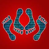 Piede cyber del sesso Fotografia Stock Libera da Diritti